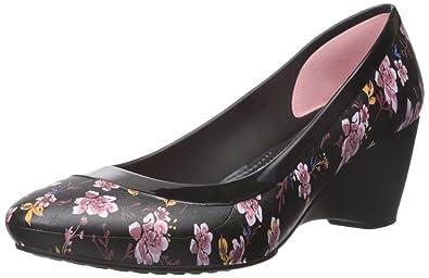 35251687d9 Amazon.com | Crocs Women's Lina Graphic W Wedge Pump | Shoes