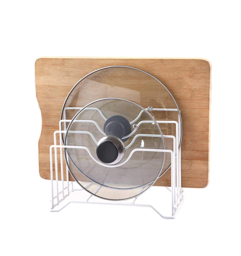 AcornFort Kitchen Pot Pan Lid Holder Organizer Cover Rack L26cm x W16cm x H22cm (Black) YOYO INFO UK LTD