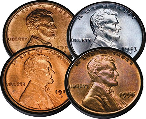 Lincoln Head Penny 1 Cent Neoprene Coaster Set of 4 For Numismatist Coin ()