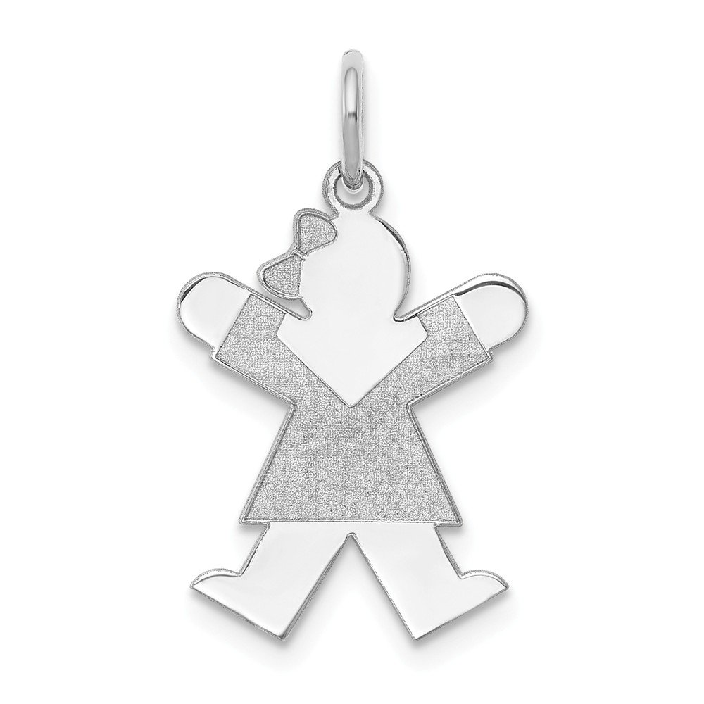 Jewels By Lux 14k White Gold Kid Charm