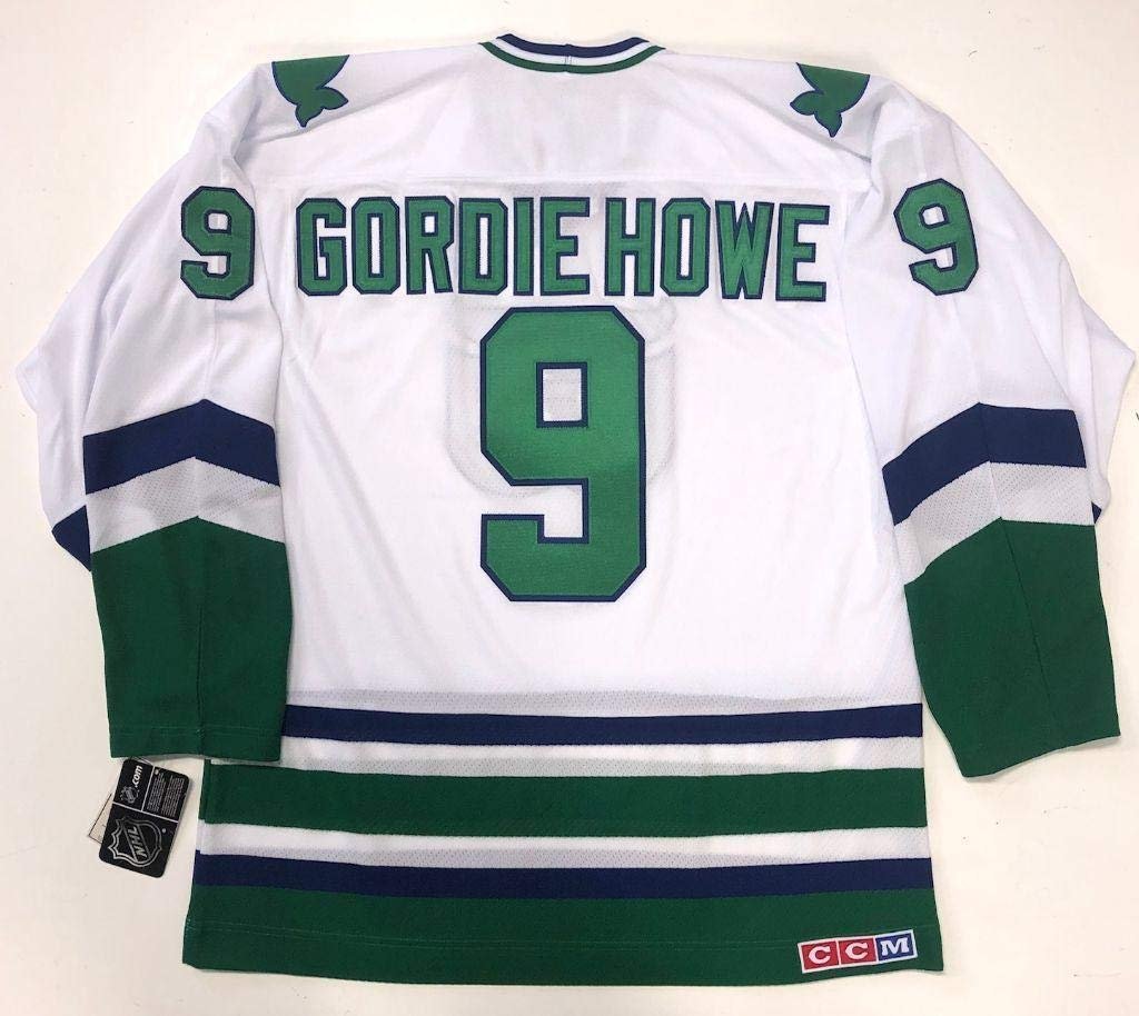 online store b9385 ac707 Gordie Howe Hartford Whalers Ccm Team Classic White Jersey ...