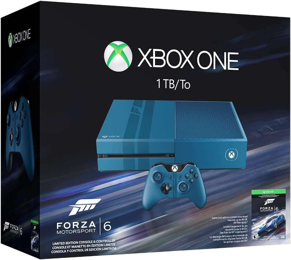 Amazon com: Xbox One 1TB Console - Forza Motorsport 6 Bundle