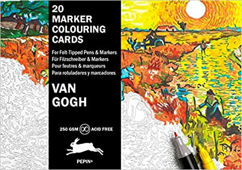 Book Van Gogh: Marker Colouring Cards Book (English, Spanish, French and German Edition)