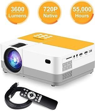Proyector, TUREWELL H3 Proyector de video Resolución nativa HD ...