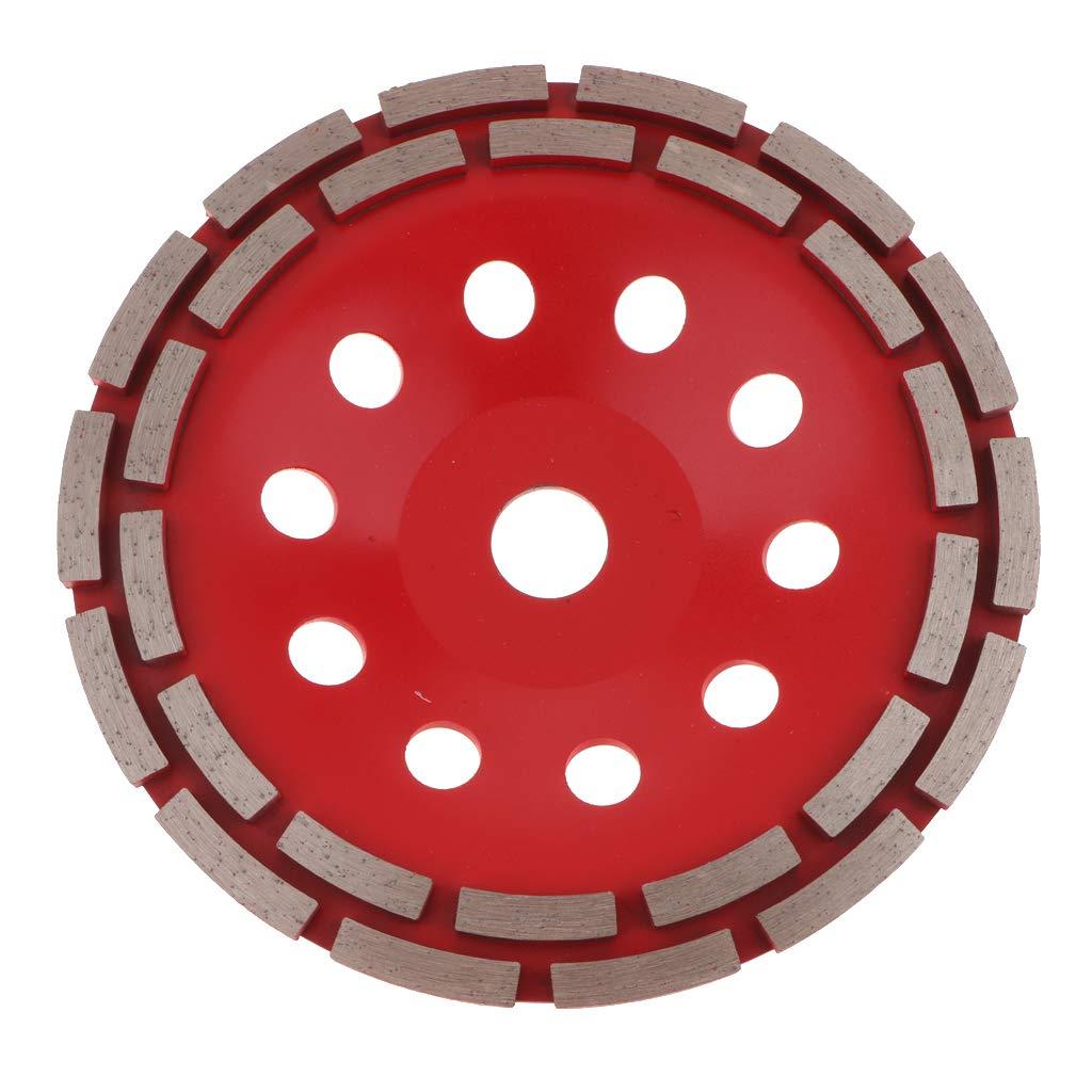 perfk Doppelreihige Diamant Polierkissen Stein Schleifscheibe Polierpad Scheibe Grit f/ür Marmor Beton Stein Polieren Satz rot,180mm
