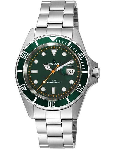 Radiant Reloj Analógico para Hombre de Cuarzo con Correa en Acero Inoxidable RA410203: Amazon.es: Relojes