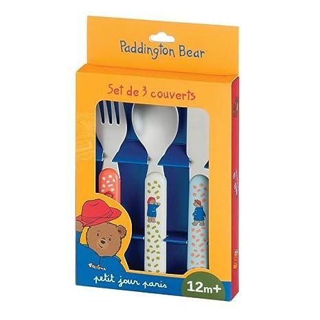 Petit Jour Paris oso Paddington – Cubertería infantil 3 piezas