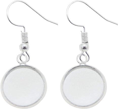 Amazon Com Jjg 100 Pcs Earring Wire Hooks Dangle Earring Cabochon