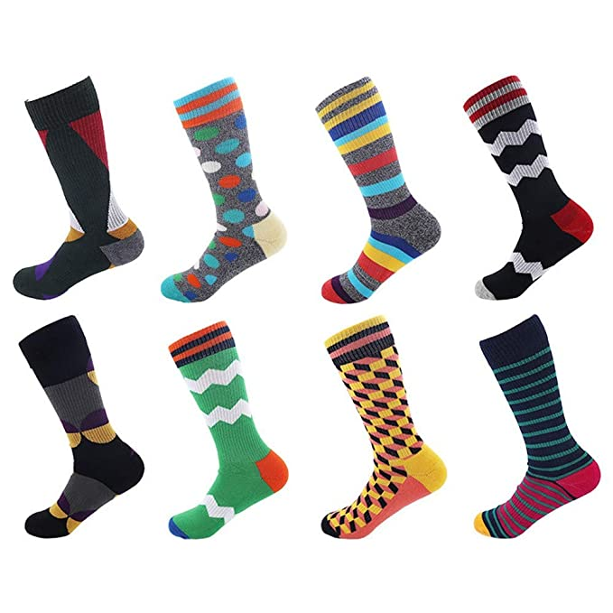 Hyf Socks 8 Pares De Medias Altas De Moda Transpirable Sudor ...