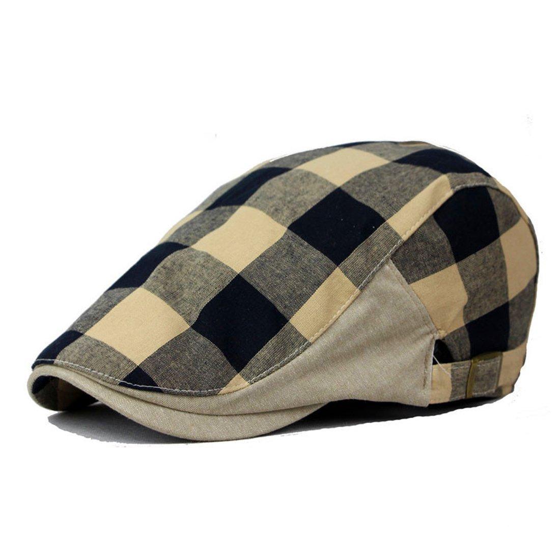 c9d56e22a9826 Belsen Unisex Cotton Linen Cabbie Gatsby Hat Golf Ivy Newsboy Driving Cap  (Black) at Amazon Men s Clothing store