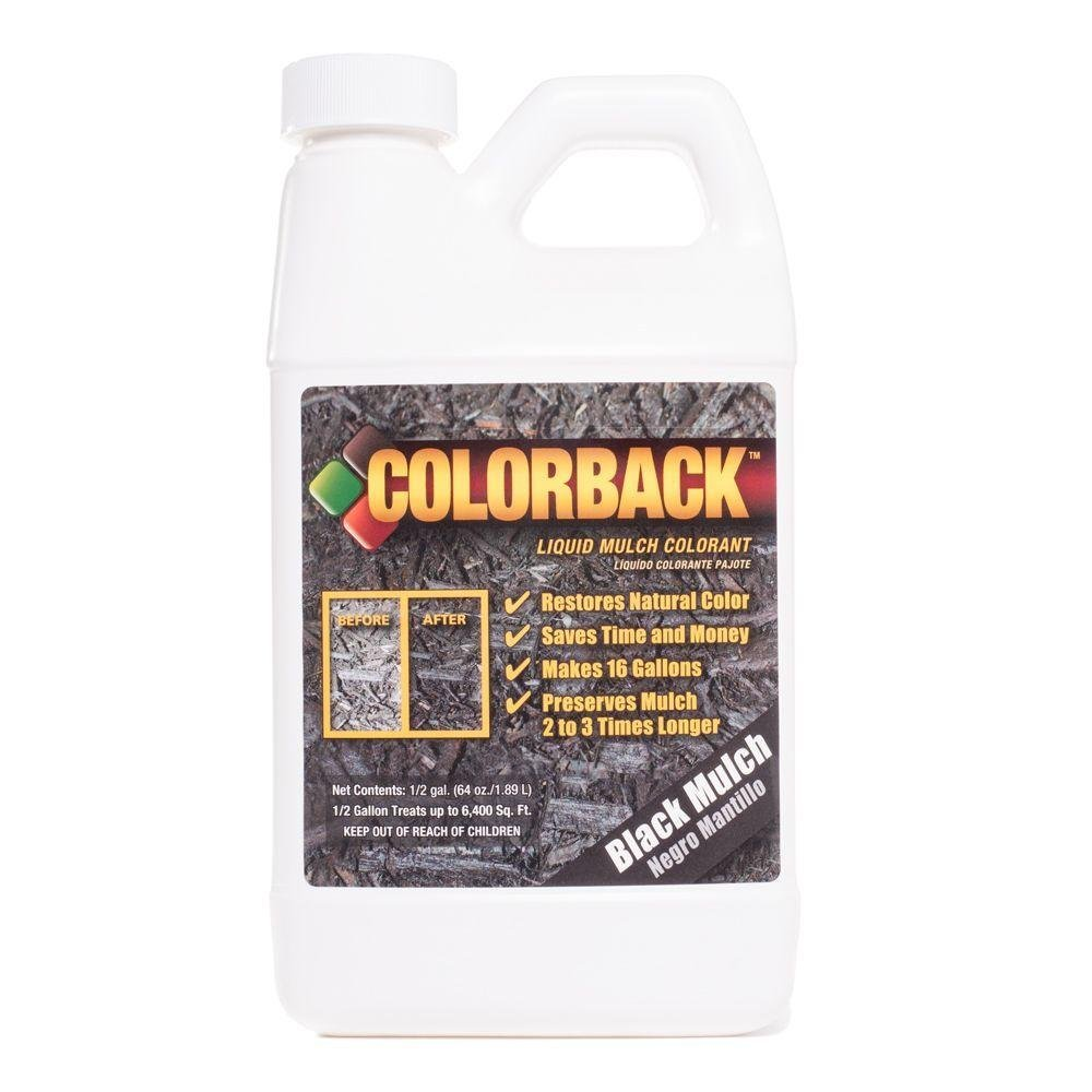 COLORBACK 6,400 Sq. Ft. Mulch Color Concetrate, 1/2-Gallon, Black