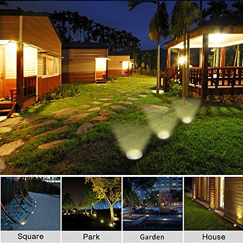 Luces solar de tierra luz 8 led wzto luces solares jardin impermeable l mpara en el exterior - Luces exterior solares ...