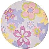 Safavieh Safavieh Kids Collection SFK314A Handmade Multicolored Cotton Round Area Rug (4' Diameter)