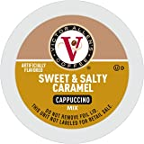 Victor Allen's Coffee Sweet and Salty Caramel Cappuccino, Flavored Coffee, 42 Count Single Serve Coffee Pods for Keurig K-Cup