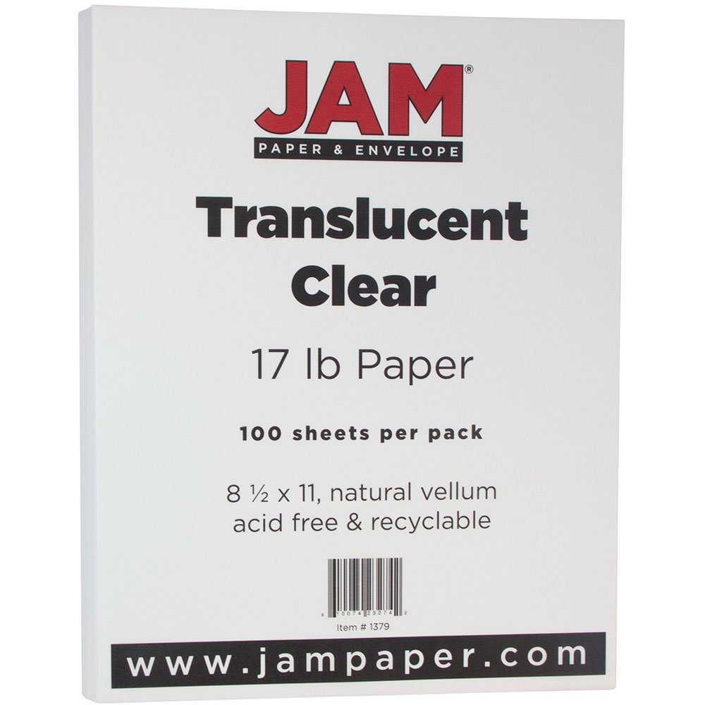 JAM Paper Translucent Vellum Paper - 8.5'' x 11'' - 17lb Clear - 100 Sheets/pack by JAM Paper (Image #2)