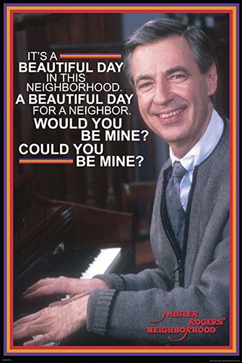 Amazon Com Studio B Poster Mr Rogers Beautiful Day 36x24 Wall Art P1675 Posters Prints
