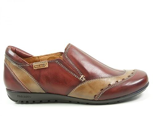 Pikolinos 767-9982C1 Lisboa Mocasines de cuero mujer, schuhgröße_1:eur 41;Farbe:rouge: Amazon.es: Zapatos y complementos