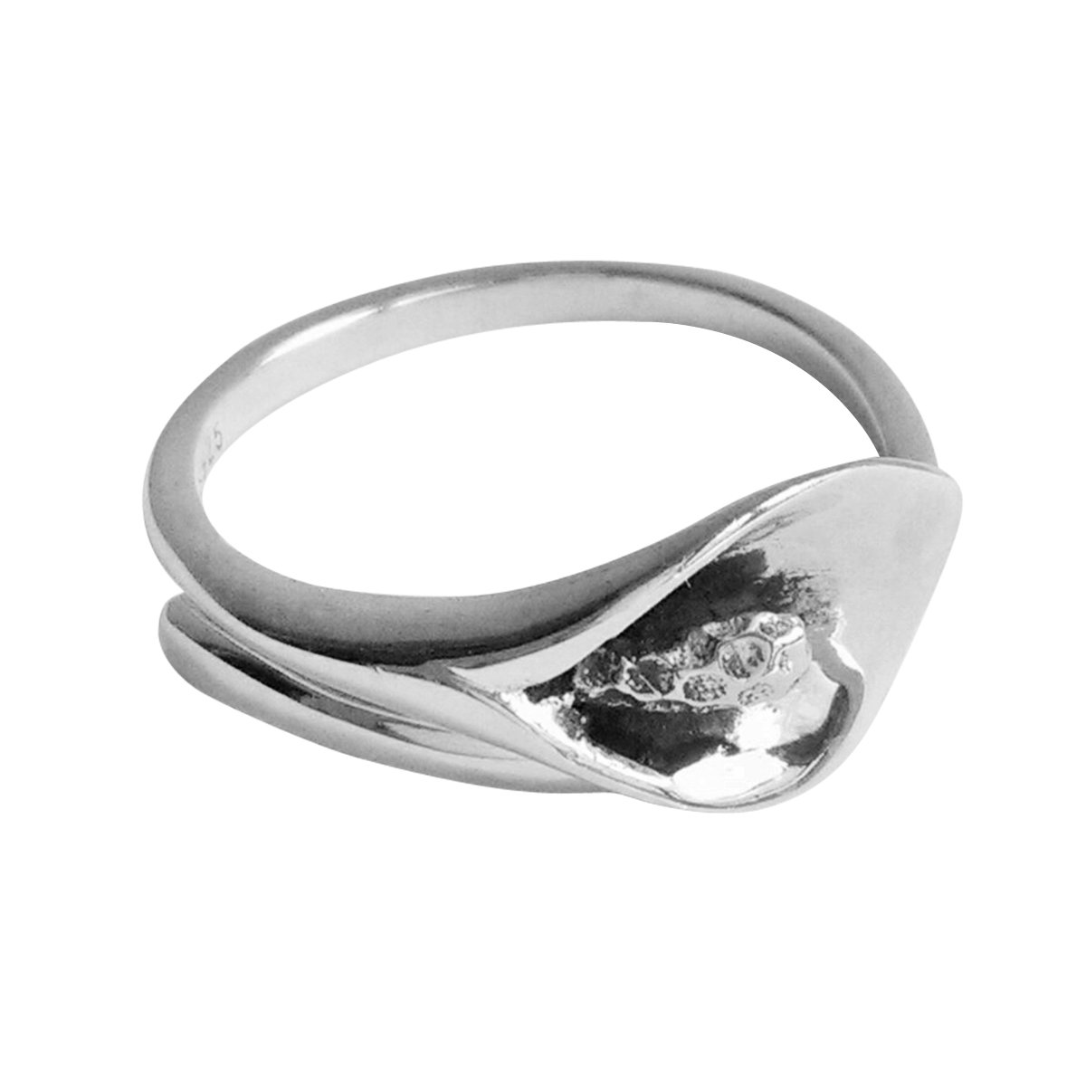 Rings Silver 925 For Women Girls Band Antique Her With Stamp Sensitive Skin Calla Lily Flower Vintage Genuine Sterling