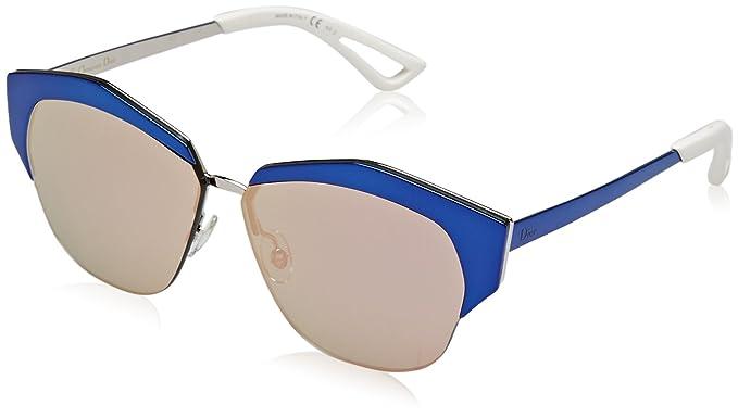 62b2526923 Amazon.com  Christian Dior Mirrored S Sunglasses Black Blue Shiny ...