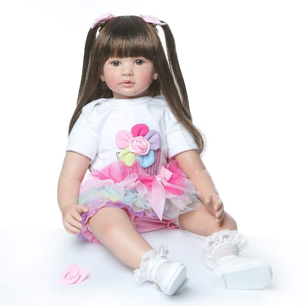 XL68chao Neue Weißhe silikon Reborn Baby Puppen 24  gefälschte Baby Reborn Babys für Kinder Geschenk Schlaf Puppe Spielzeug für Kinder Reborn bonecas
