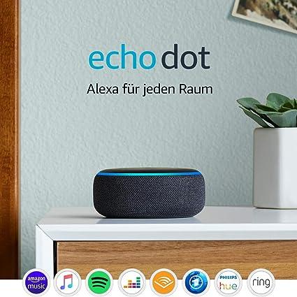 Echo Dot 3 Gen Intelligenter Lautsprecher Mit Alexa Anthrazit Stoff Alle Produkte