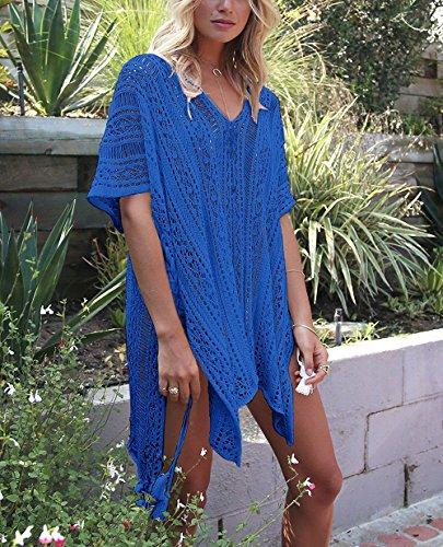 HARHAY Women's Summer Swimsuit Bikini Beach Swimwear Cover up Blue by HARHAY (Image #3)