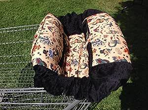 Shopping Cart Cover -Tan Tattoo/Black