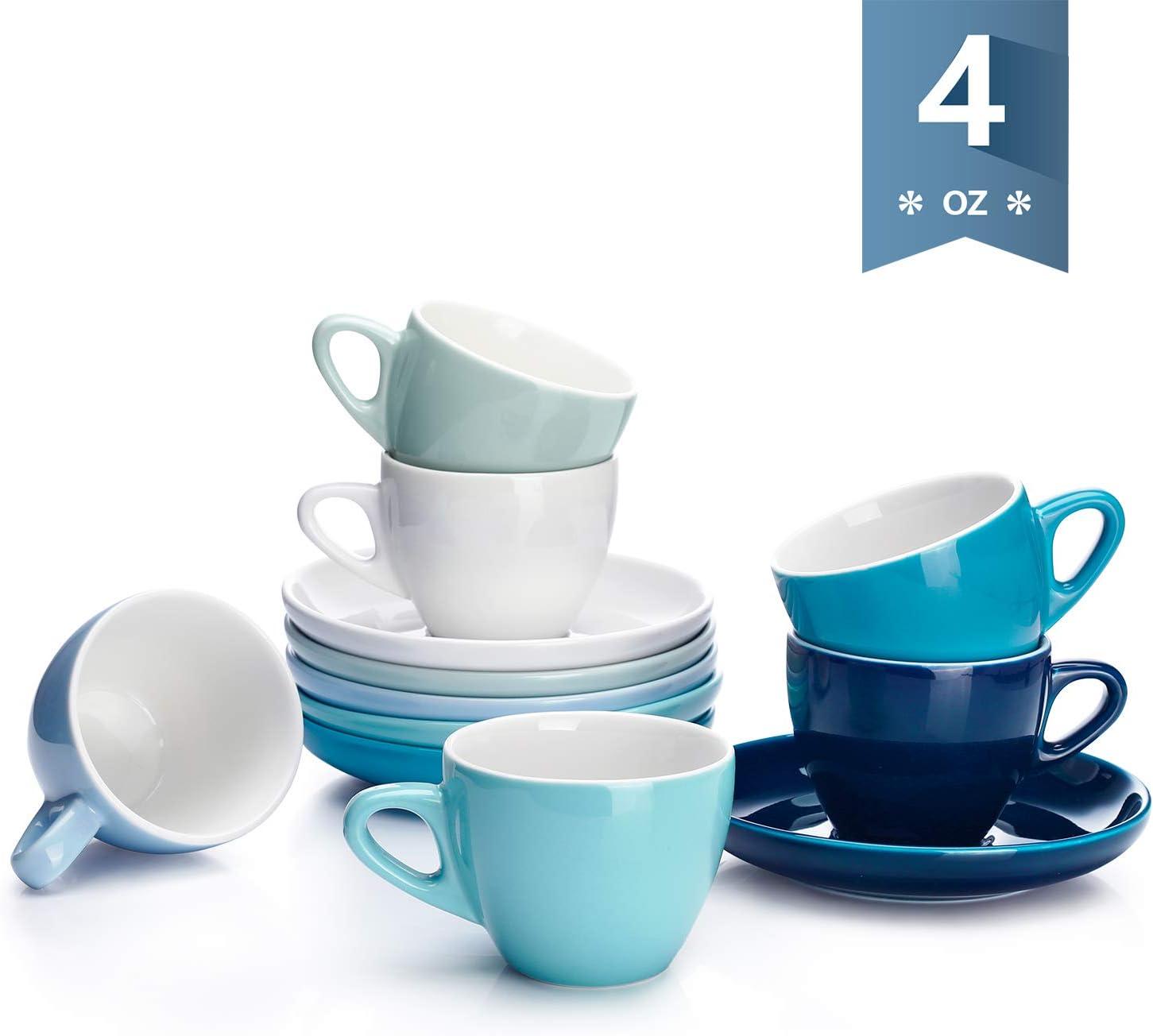 瓷杯+杯垫12件套组合6人份