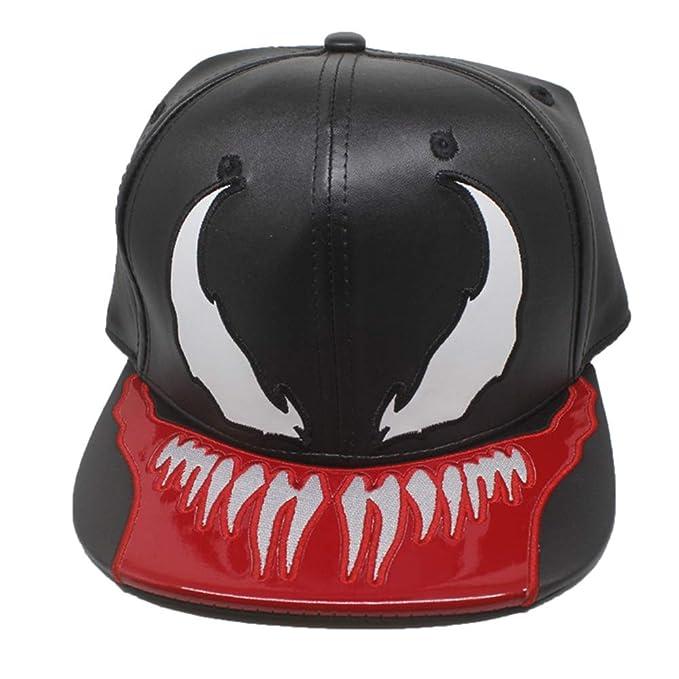 Amazon.com  FangjunxianST PU Leather Superhero Hat Snapback ... 5b60de83bff4