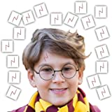 Lightning Bolt Scar Temporary Tattoos - 20 Count - Great for Wizard Theme Party Favors, Handouts, Childrens Gift and more!!!