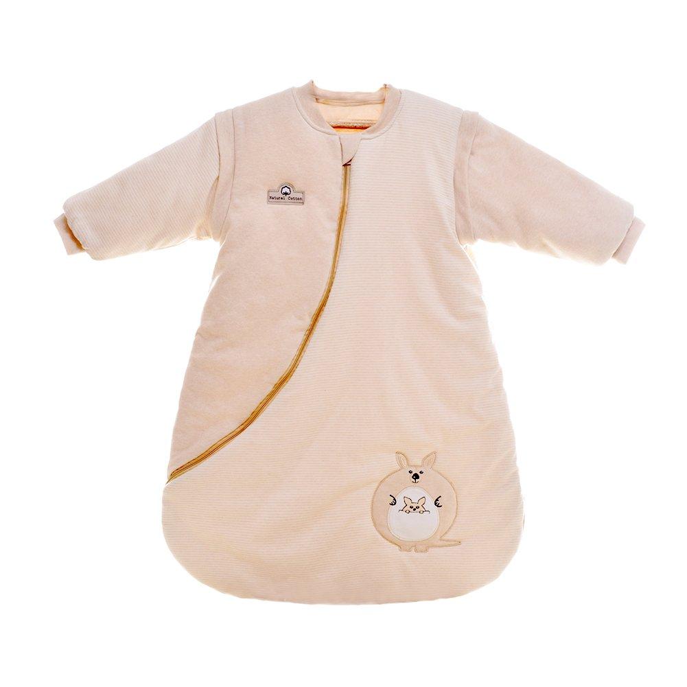 iEvolve 100/% Baumwolle Baby Schlafs/äcke Pucksack Abnehmbare /Ärmel Puckt/ücher Herbst Baby Wrap Decke Winter Mit K/änguru 70cm