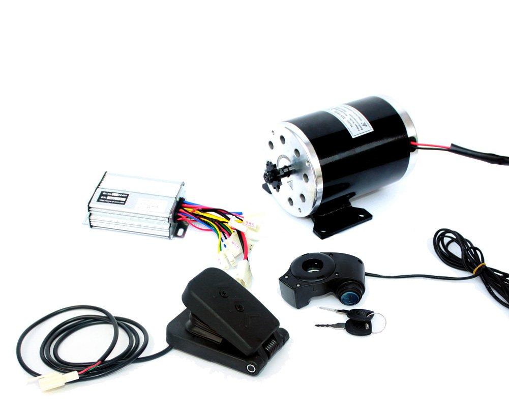 L-faster 36V48V 1000W UNITEMOTOR Brushed Motor MY1020 with Controller and LED Throttle Electric Motorcycle MX500 Upgraded Engine Kit (36V Pedal kit)