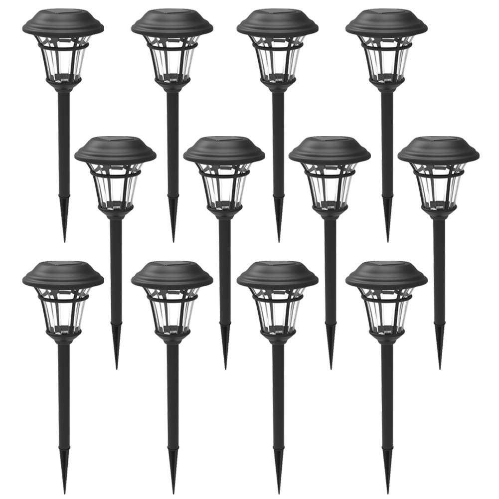 MAGGIFT 12 Pack Solar Pathway Lights Outdoor Solar Garden Lights for Patio, Yard, Driveway by MAGGIFT