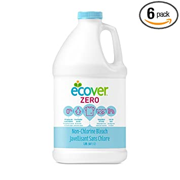 Ecover Zero Non Chlorine Laundry Bleach, 64 Ounce (Pack 6)