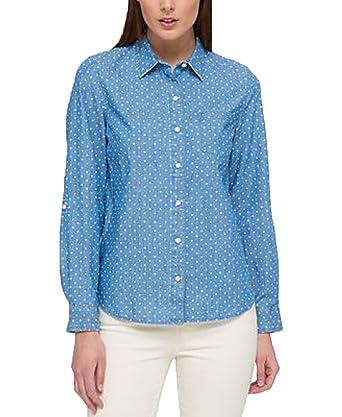 7ab7ef9f Tommy Hilfiger Cotton Chambray Utility Shirt (Chambray Dot, S) at Amazon  Women's Clothing store: