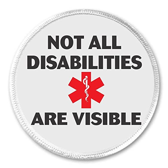 Amazon Not All Disabilities Are Visible 3 Sew On Patch Medical