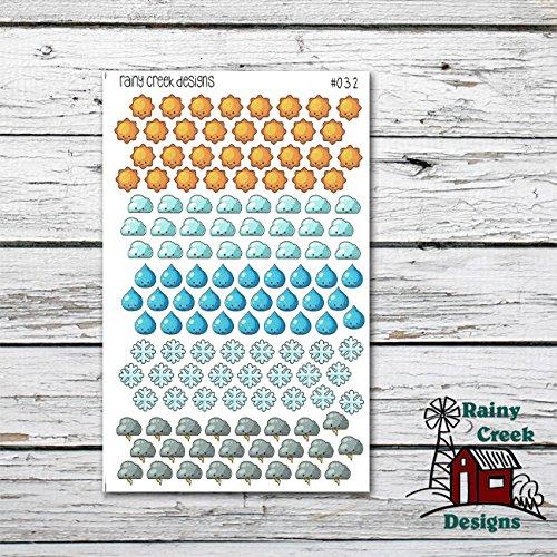 Weather Planner Stickers/ Functional Stickers/ Erin Condren/ Plum Paper/ Inkwell Press/ Happy Planner/ Filofax/ Life Planner/ Family #032 (Weather Stickers)