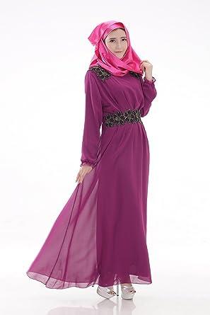 Frühling und Sommer Frauen lange muslimische Gewand Kleid Chiffon Kleid  Kleid Langarm Kleid Damen , tang 7285ceded5