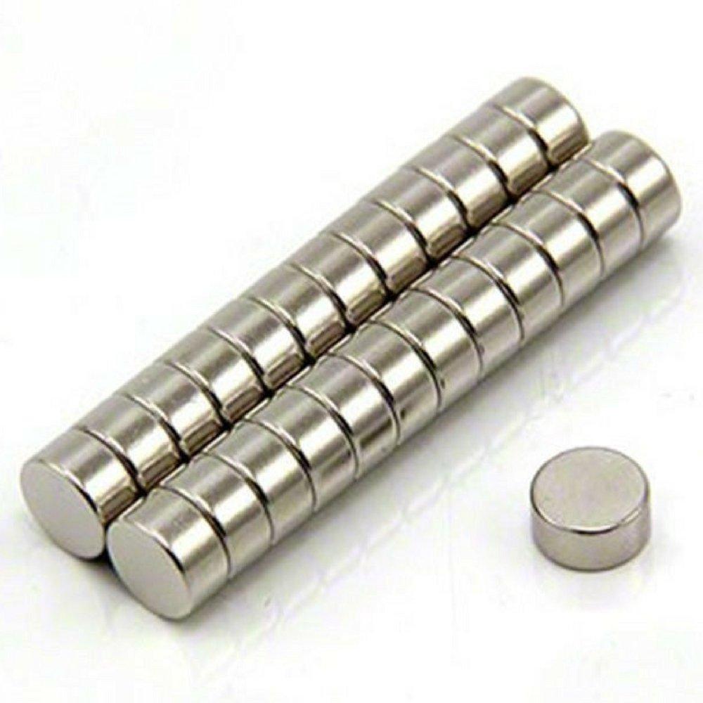 Imanes de nevera de cilindro de neodimio N52 (30 piezas) | 6mm x 3mm, 1/4