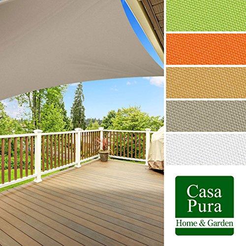 casa-pura-Sonnensegel-wasserabweisend-imprgniert-quadratisch-3x3m-UV-Schutz-viele-Farben