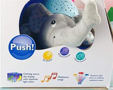 lámpara de proyección, Elephant Baby Crema Music Luminous Toy ...