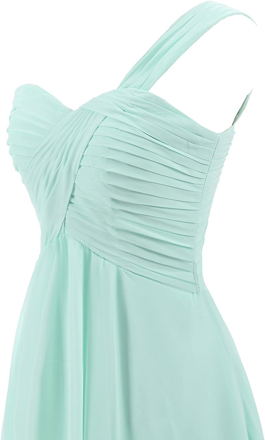 Clearbridal Women's Vintage A-line Short Prom Party Gowns Chiffon Bridesmaid Dress CSD247 Offe White-427