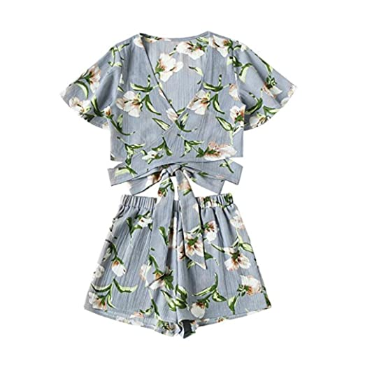 Mr Macy Hot Salewomen Casual Two Piece Short Sleeve Printed Suit
