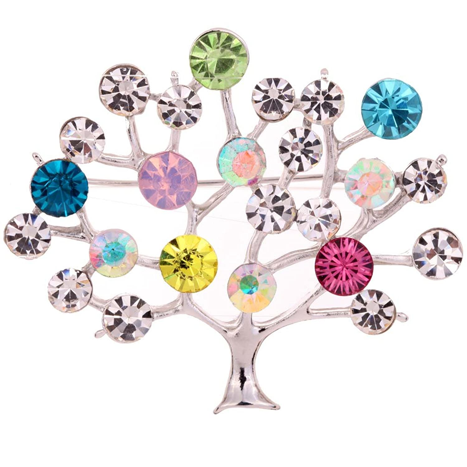 YAZILIND Jewelry Tree Shape Carve Full Colorful Leaf Brooches and Pins