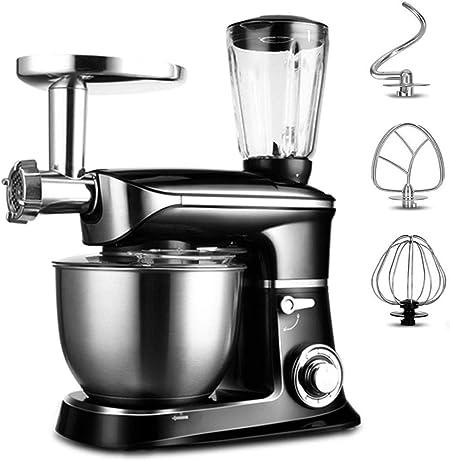 YXXJ Robot de Cocina, batidora, amasadora, 1300 W, 6, 5 L, Sistema planetario, trituradora, Ganchos para Pasta, coctelera de 1, 5 L, Velocidad Ajustable: Amazon.es