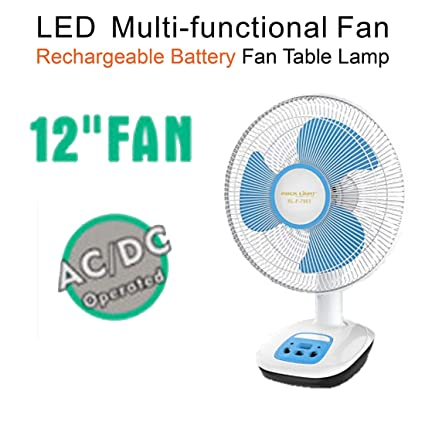 Pick Ur Needs Rocklight Rechargeable AC/DC 12 Inches Table Fan 4-6