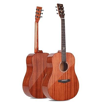 huanle Guitarra de una Sola Placa balada Cuadrada Redondeada Brillante de 41 Pulgadas, Superficie de