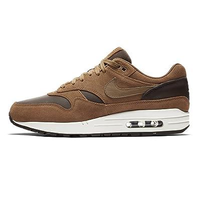 Nike Air Max 1 Premium Leather Baroque Brown Golden Beige 41