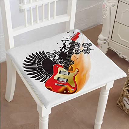 Remarkable Amazon Com Mikihome Chair Pads Squared Seat Bass Guitar Ocoug Best Dining Table And Chair Ideas Images Ocougorg
