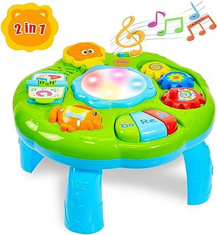 HERSITY Mesa de Actividades Tambor Musical Juguete Educación ...
